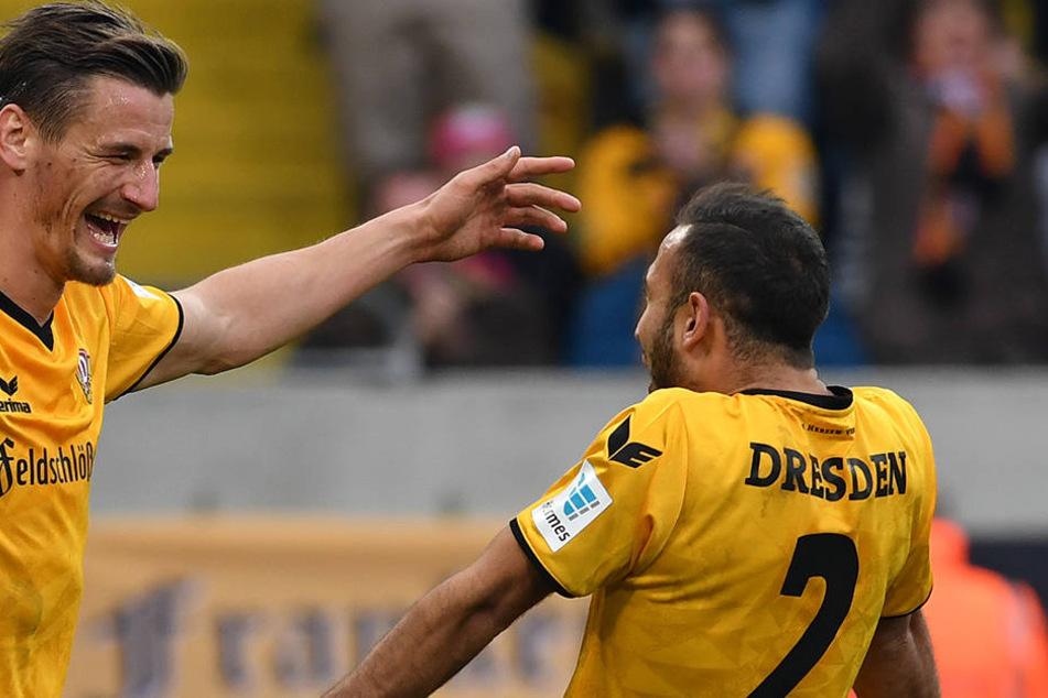 Stefan Kutschke und Akaki Gogia sind in der Form der letzten Spiele für Dynamo unverzichtbar.