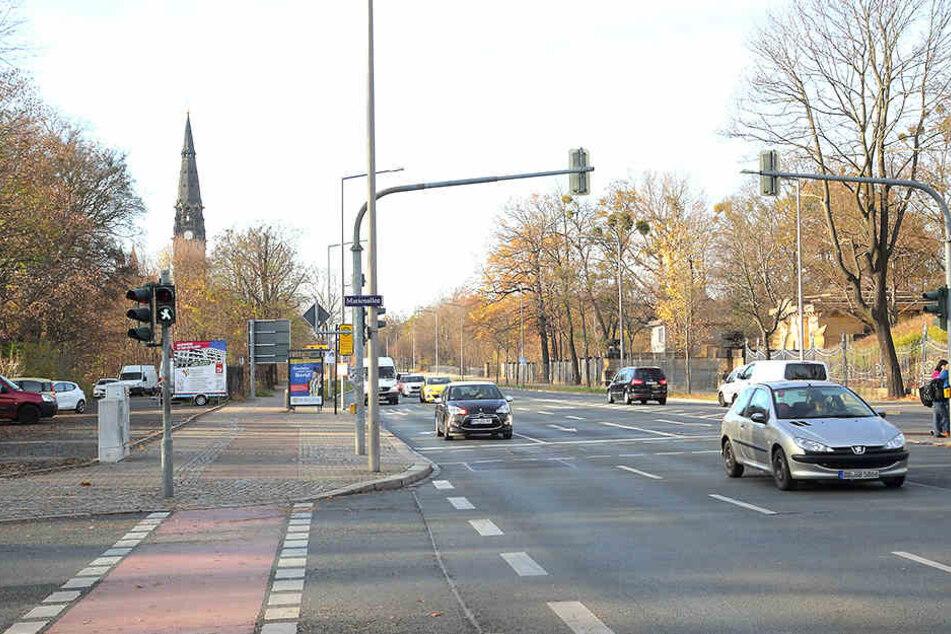 Eher die Ausnahme: Auf der Stauffenbergallee entschied sich die Stadt gegen Tempo 30.