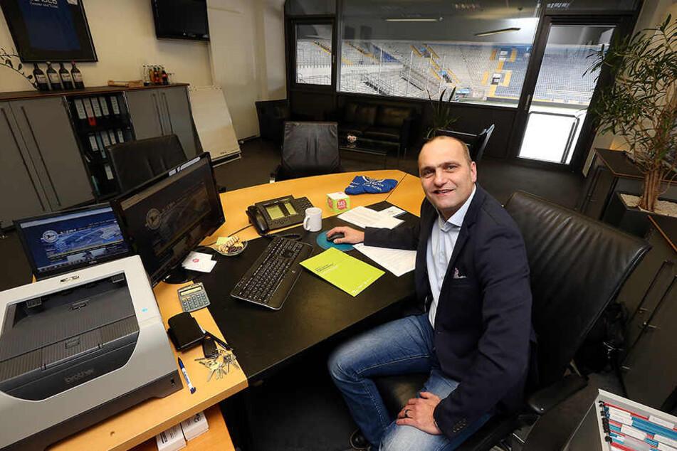 DSC-Geschäftsführer Gerrit Meinke erlebt derzeit eine turbulente Zeit beim Club.