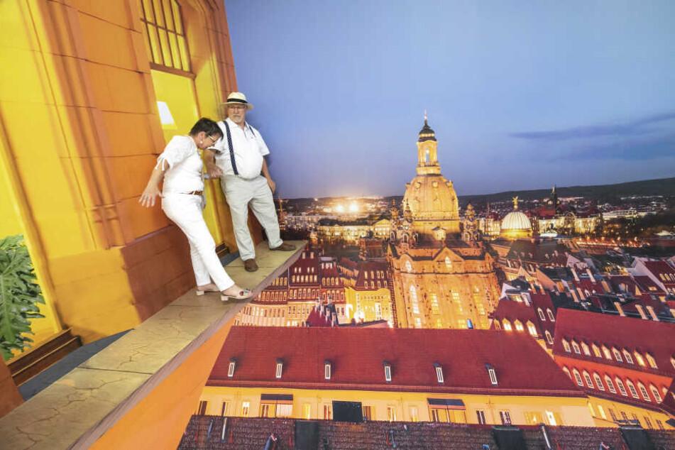 Über den Dächern Dresdens balancieren... das geht bei Oskars.