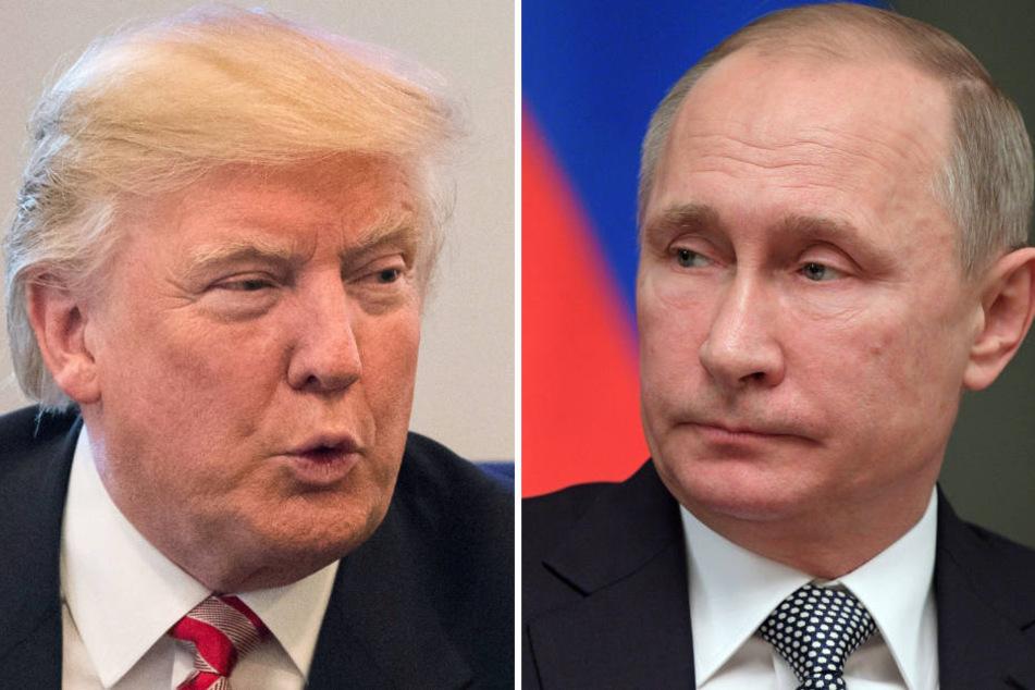 Klappern gehört zum Geschäft, erst recht zwischen den Führern der größten Atommächte, Wladimir Putin (re.) und Donald Trump.