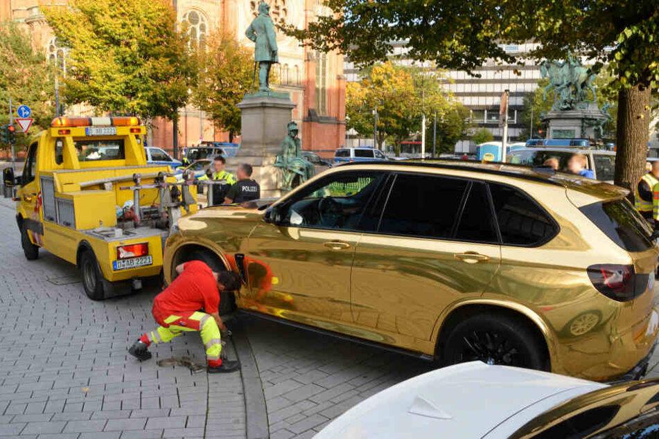 Greller Gold-BMW hat noch weitere Mängel!