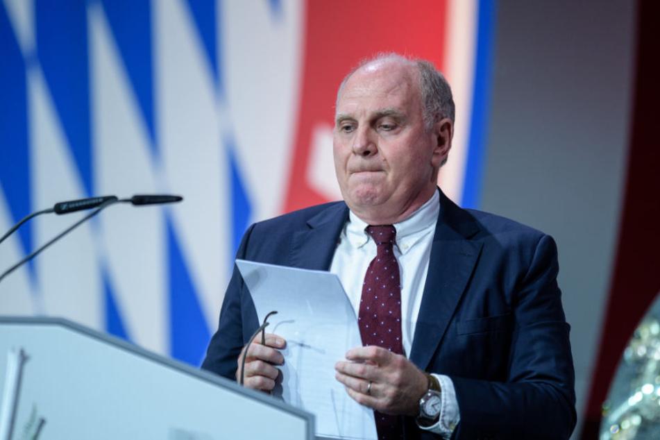 Uli Hoeneß bei der Jahreshauptversammlung 2018.