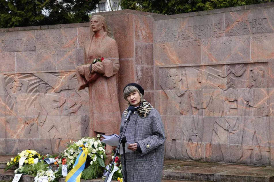 Oberbürgermeisterin Barbara Ludwig (57, SPD) beim Chemnitzer Friedenstag am 5. März 2019.