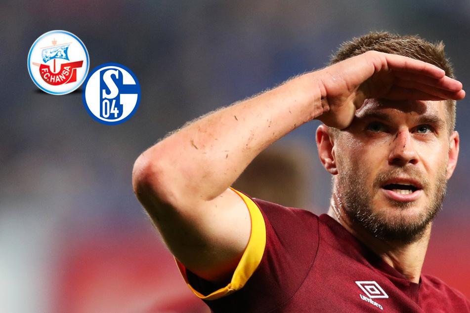 Terodde-Doppelpack: Schalke ringt aufmüpfiges Hansa Rostock nieder