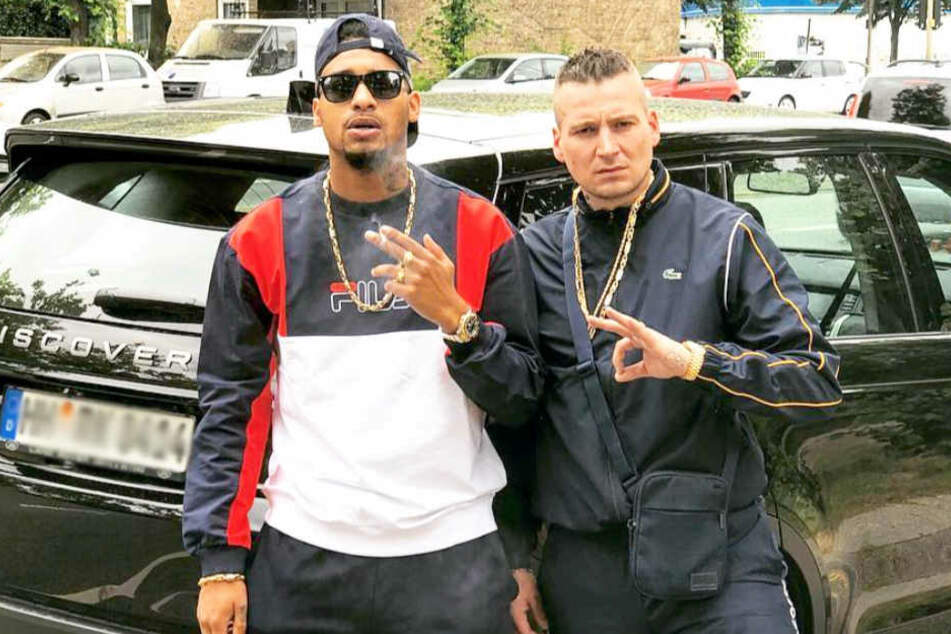 Rapper Maxwell (l) zusammen mit LX.
