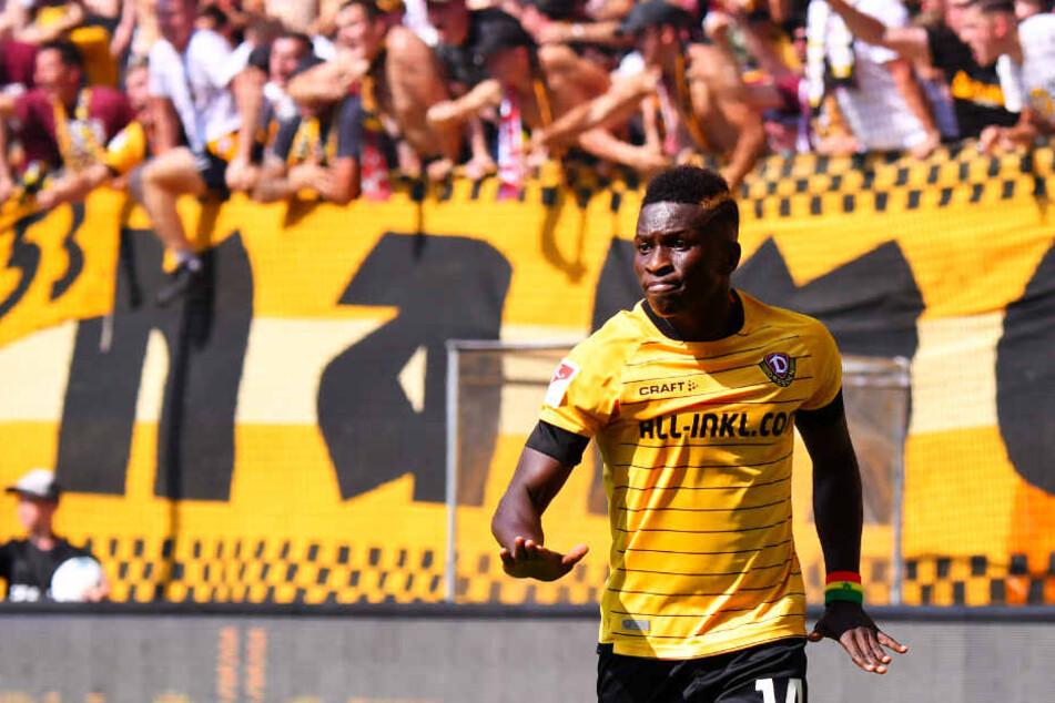Für Dynamo Dresden traf Moussa Koné in 62 Einsätzen 23 Mal.