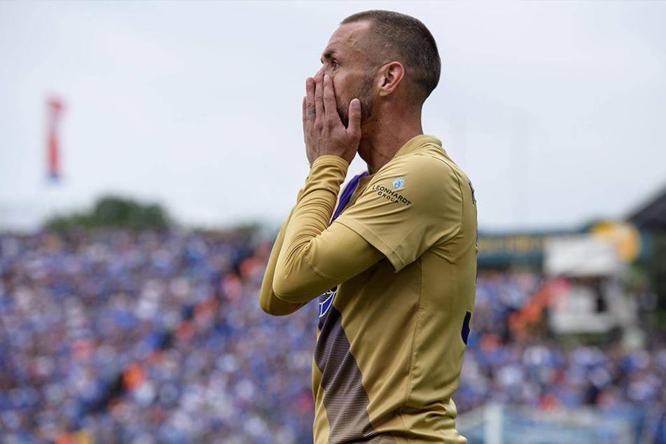 Christian Tiffert war am Sonntag vom Schiri völlig entnervt und sichtlich enttäuscht nach der Niederlage