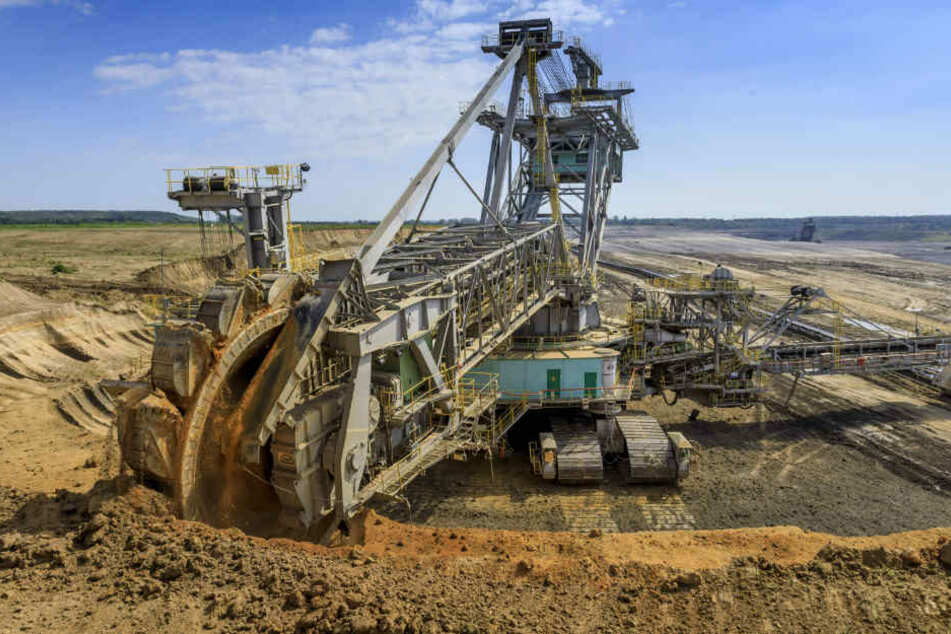 Ein Schaufelradbagger gräbt sich durch den Tagebau Vereinigtes Schleenhain südlich von Leipzig. Mit dessen Kohle wird bislang neben Strom auch Fernwärme für die Messestadt erzeugt.