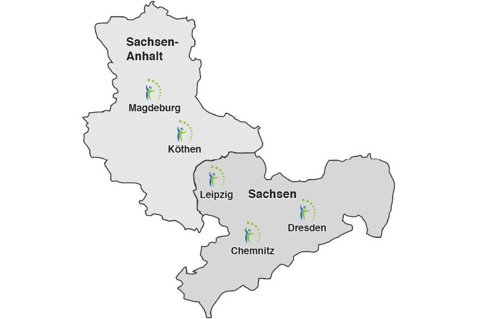 Die Institute für angewandte Kavitation gibt es an fünf Standorten.