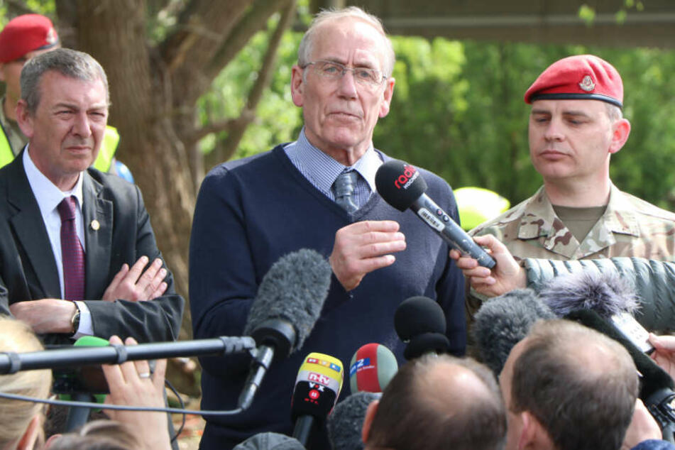 Bei einer Pressekonferenz informierte die Militärpolizei über das weitere Vorgehen.