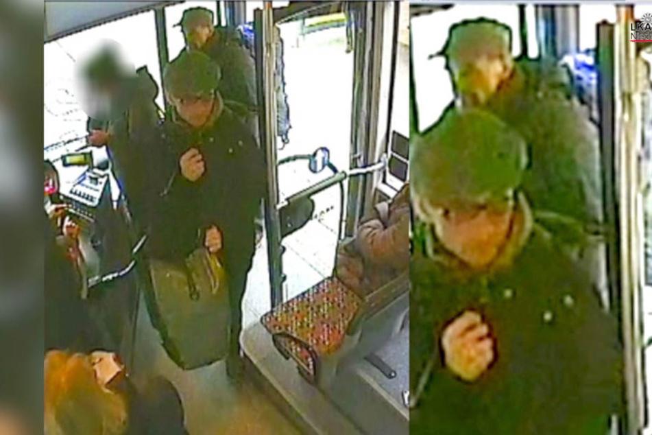 In einem Osnabrücker Bus wurden die RAF-Terroristen Bukhard Garweg (vorne) und Ernst-Volker Staub gefilmt.
