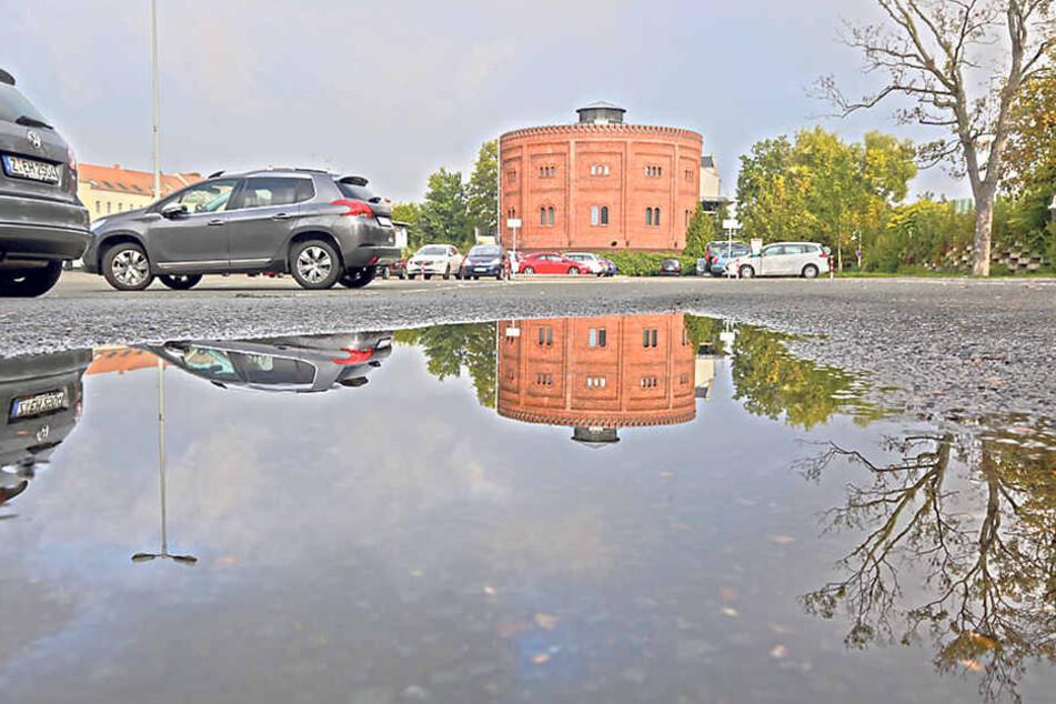 Der Parkplatz am Alten Gasometer wird gesperrt, das Areal für über 700 000  Euro umgebaut.