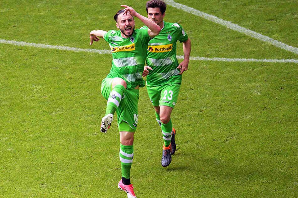 Einer von vielen Rückschlägen für den HSV: der 1:1-Ausgleich durch den früheren Hamburger Spieler Josip Drmic für Borussia Mönchengladbach.