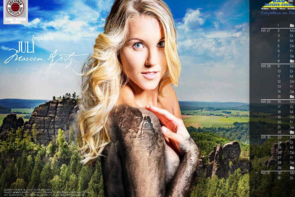 Zuspielerin Mareen Apitz (30) wurde vom Playboy bereits zur schönsten Sportlerin Deutschland gewählt.