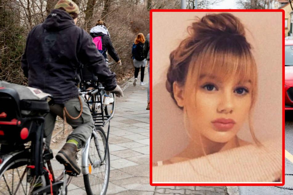 Mehrere Anwohner suchten mit Fahrrädern nach der Vermissten.