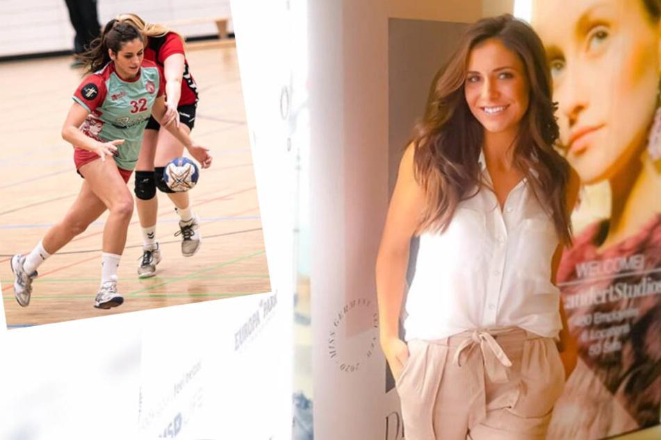 Handballerin und TV-Sternchen Sabrina Sellaoui will Miss Germany werden. (Montage)
