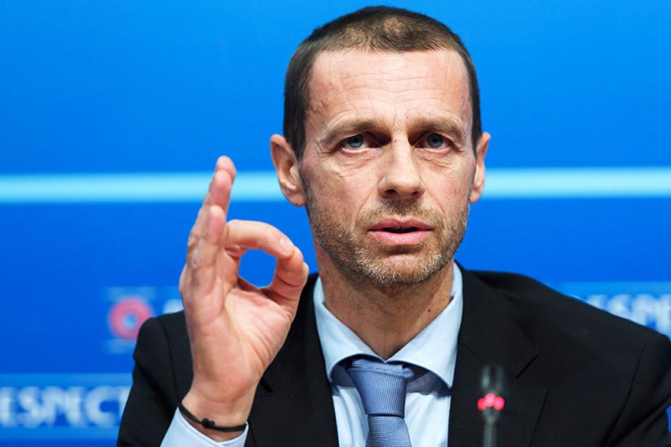 UEFA-Präsident Aleksander Ceferin hält sich bei seinen Aussagen noch bedeckt.