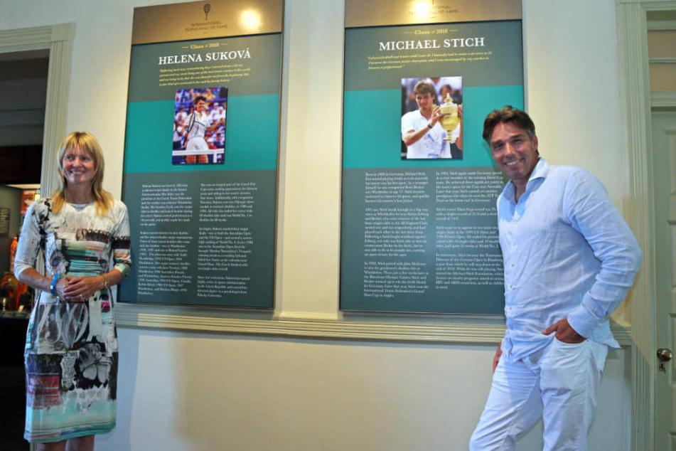 Helena Sukova und Michael Stich wurden in die Hall of Fame aufgenommen.