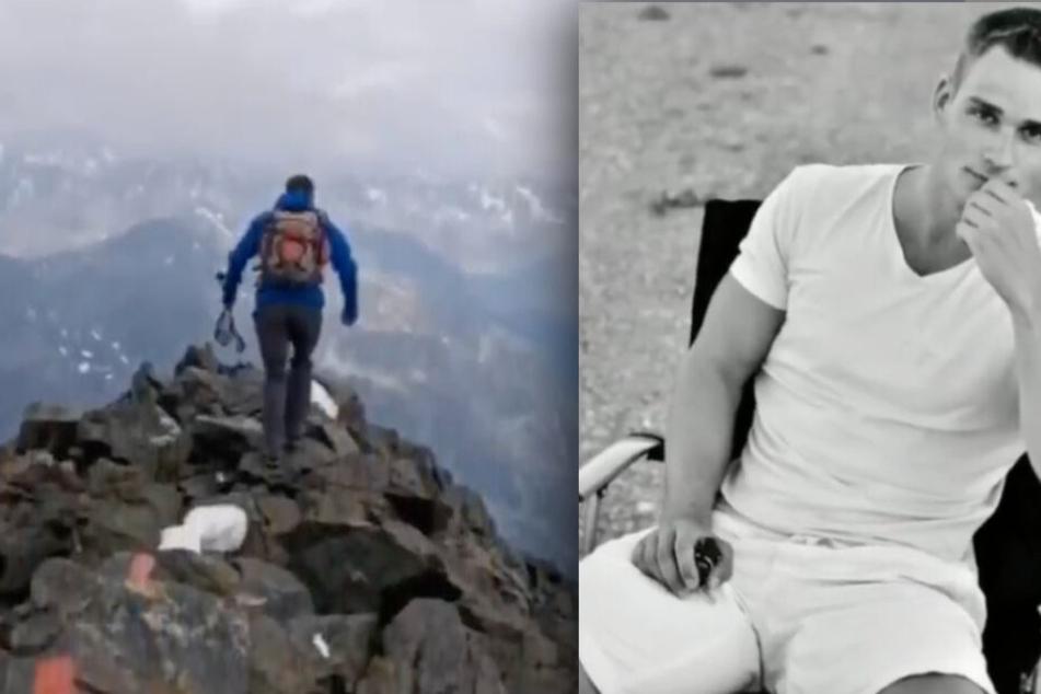 Christian W. starb im Alter von nur 25 Jahren bei einer Bergtour. Seine Freundin verarbeitet ihre tiefe Trauer mit einem öffentlichen Video. (Bildmontage)