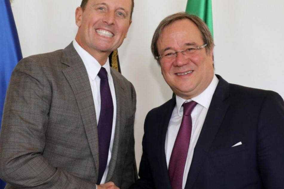 US-Botschafter Richard A. Grenell mit NRW-MP Armin Laschet (CDU).