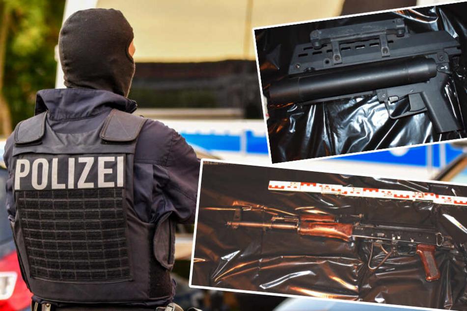Großrazzia in Magdeburg: Polizei sichert Kalashnikow, Granatwerfer und kiloweise Drogen
