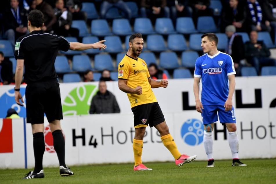 Akaki Gogia bejubelt seinen Treffer zum 2:0. Am Ende konnte auch er nicht mehr lachen.