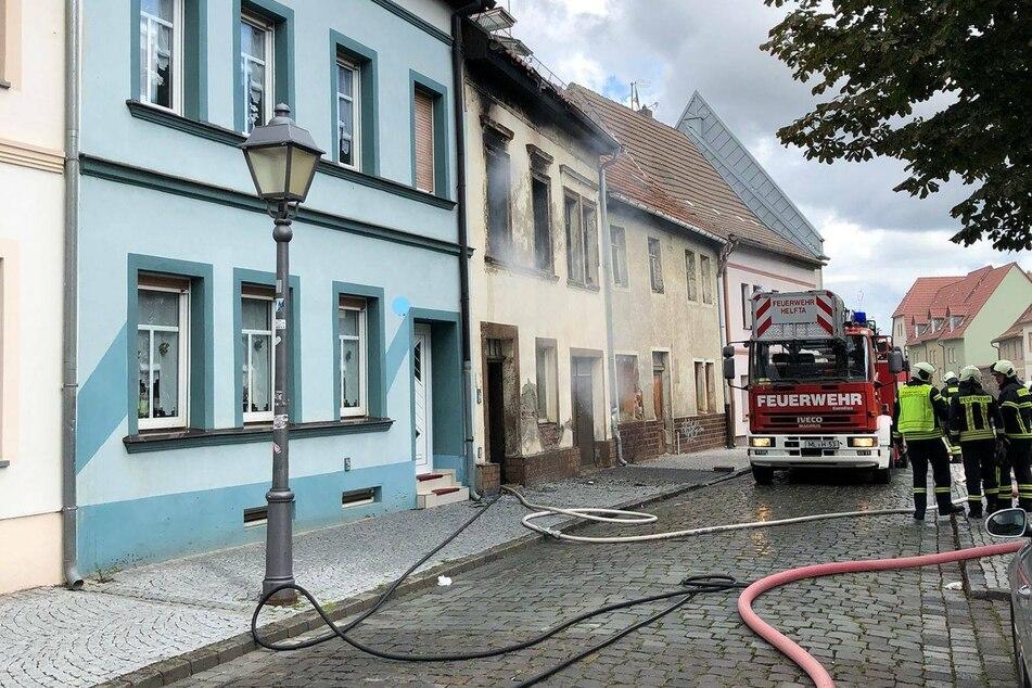 Im ersten Obergeschoss eines Reihenhauses brannte es am Samstagnachmittag.