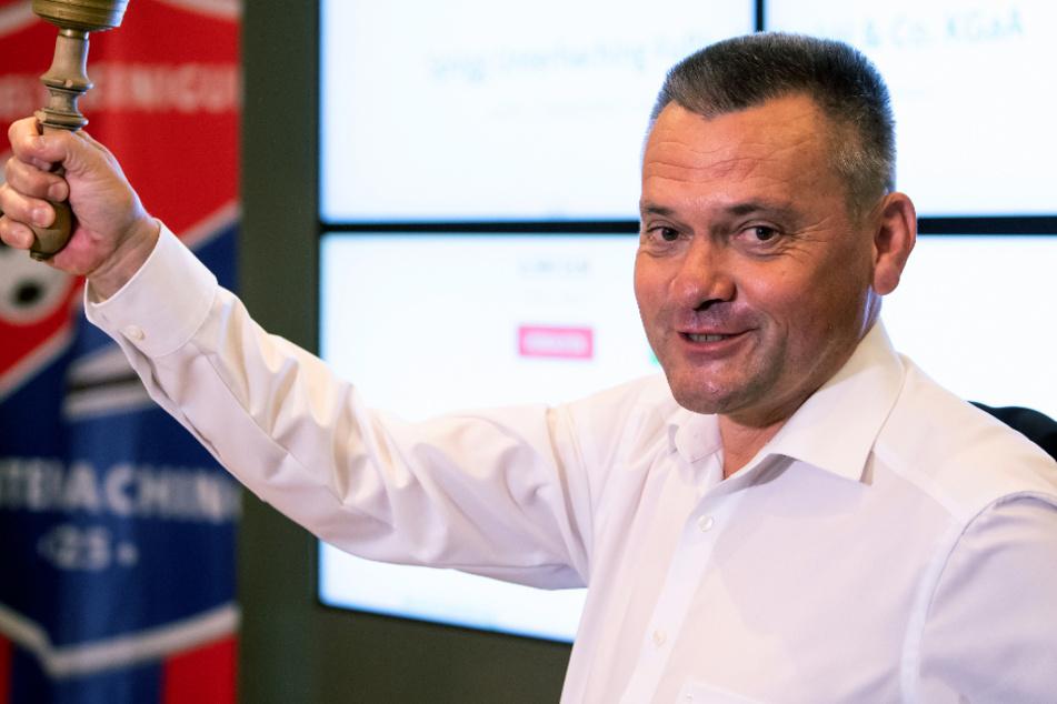 Manfred Schwabl, Präsident des Fußball-Drittligisten SpVgg Unterhaching.