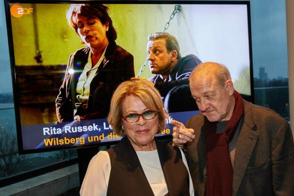 Rita Russek (68) und Leonard Lansink (64), hier im Februar 2020 zum 25. Wilsberg-Jubiläum.