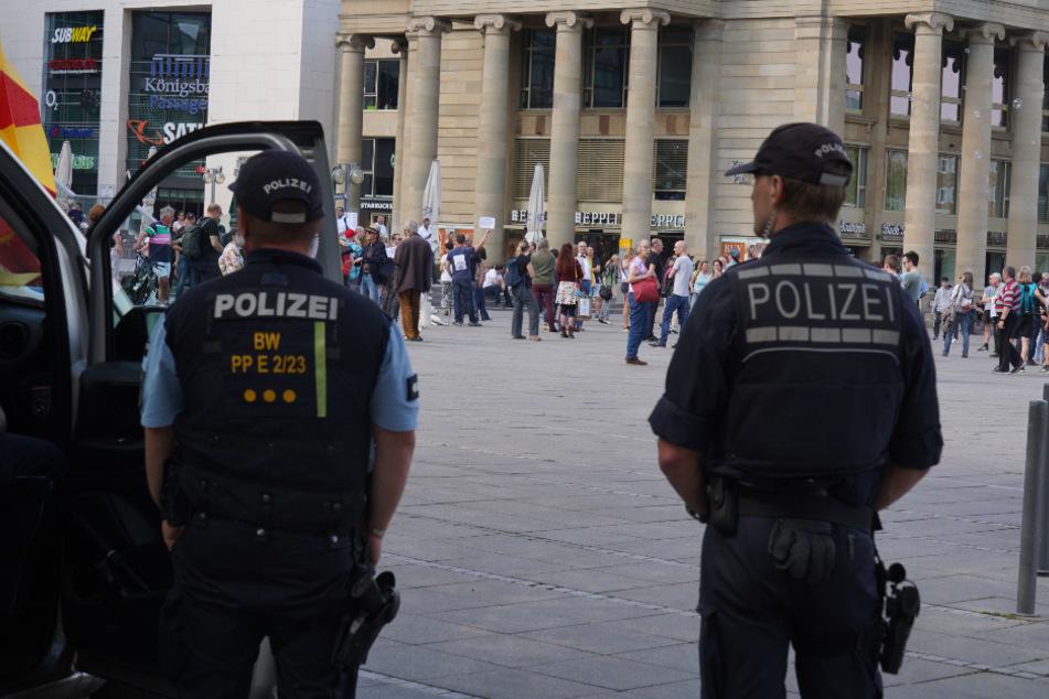 Die Polizei hatte die Versammlung im Blick.