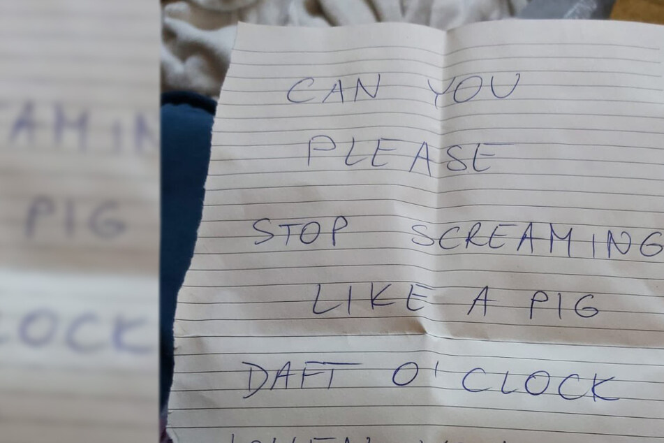 Woman gets furious note complaining about her late-night sex noises