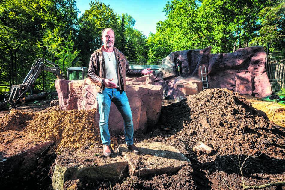 """Thomas Paarmann (53), Vorstandsvorsitzender der """"Tierparkfreunde Chemnitz"""", hofft auf viele neue Besucher."""