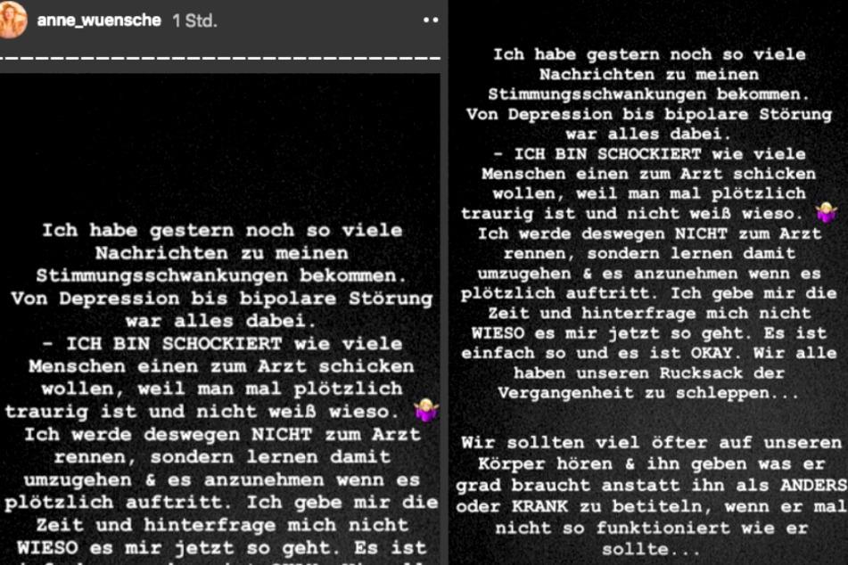 In ihrer Instagram-Story spricht die 28-Jährige Klartext.