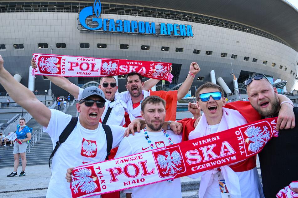 Beste und zuversichtliche Stimmung bei den polnischen Fans vor dem letzten EM-Gruppenspiel gegen die bereits fürs Achtelfinale qualifizierten Schweden.