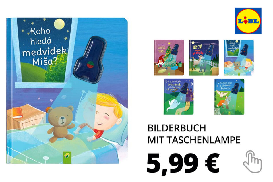 Bilderbuch mit Taschenlampe