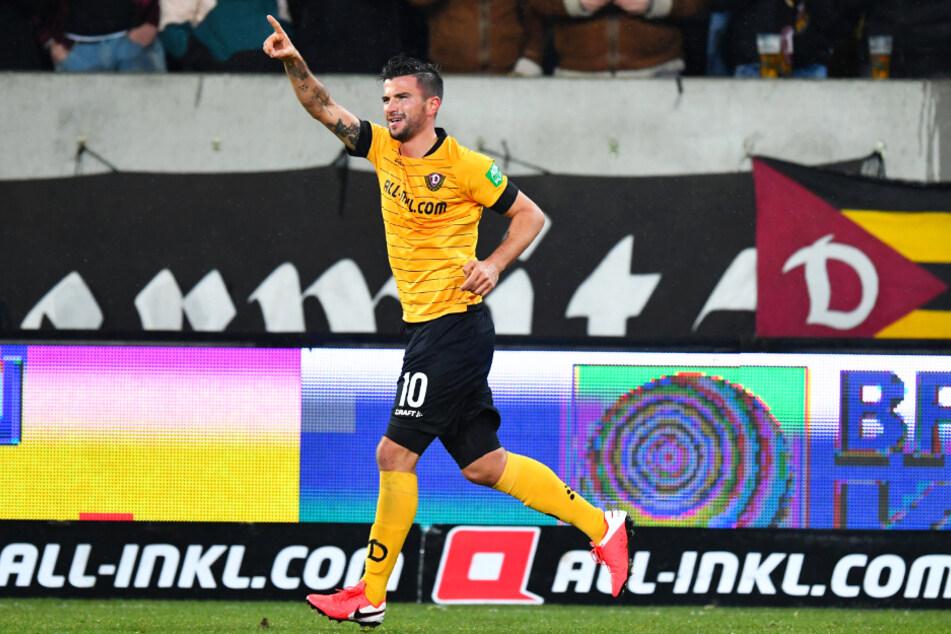 Marco Terrazzino (29) schoss Dynamo Dresden am 29. Januar gegen den KSC zum 1:0-Heimsieg.