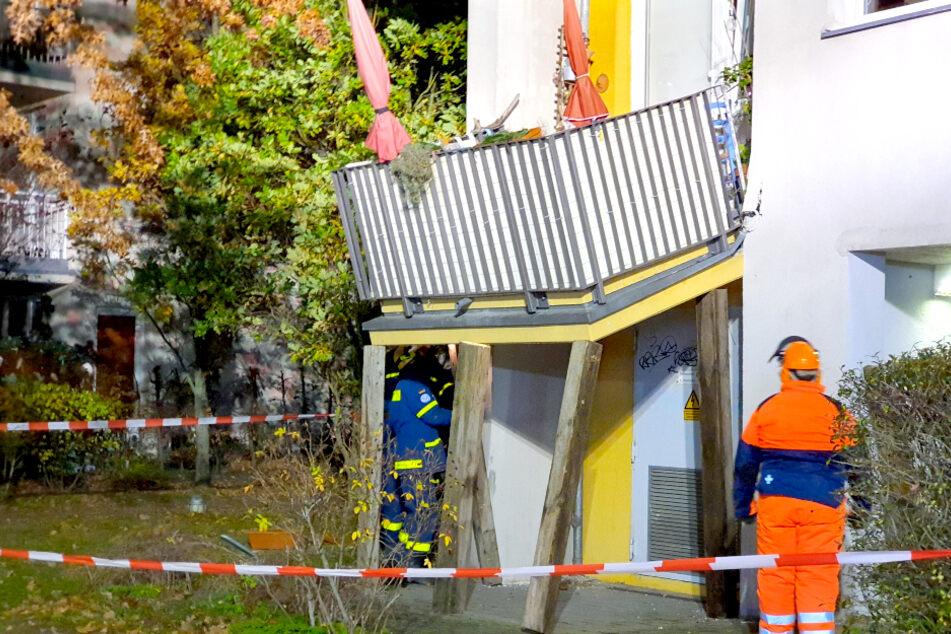 Balkon rutscht ab! Großer Schreck in Potsdamer Wohnhaus