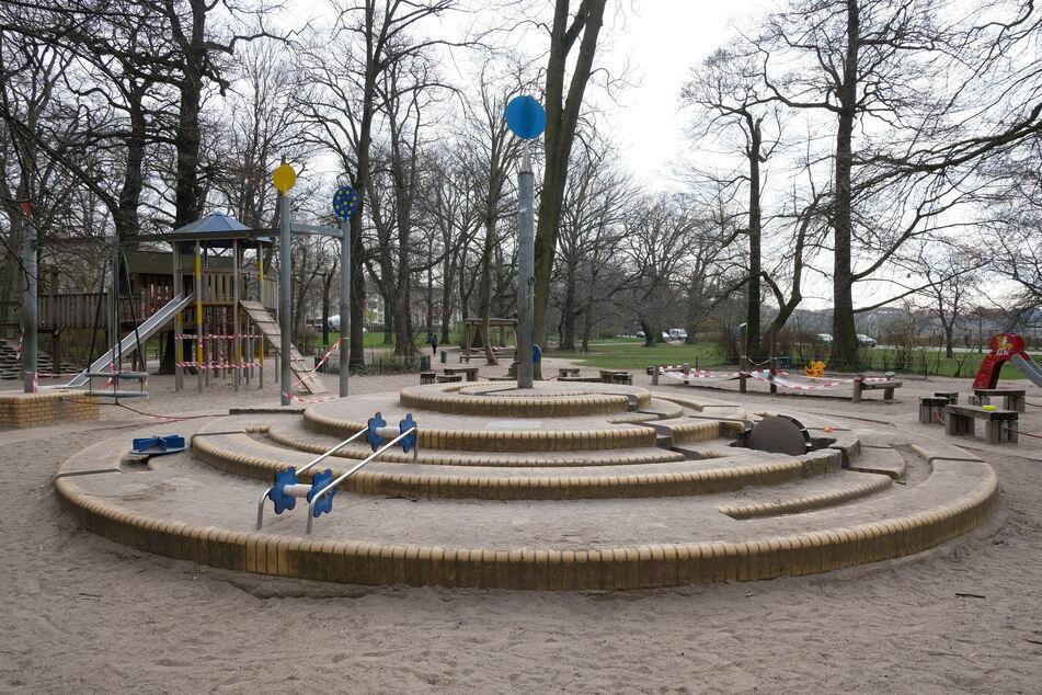 Der Spielplatz im Clara-Zetkin-Park ist verwaist.