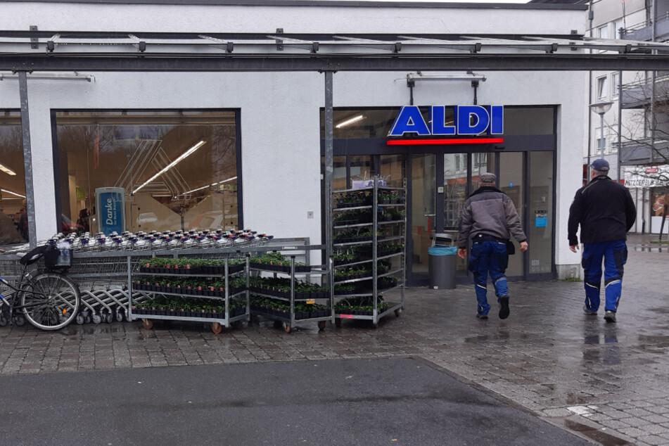 Betroffen war unter anderem die ALDI-Filiale in der Holzhäuser Straße in Stötteritz.