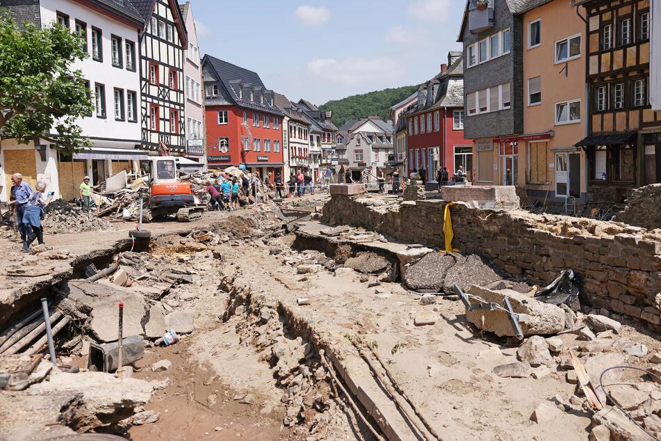 Blick in das vom Hochwasser schwer getroffene Bad Münstereifel.