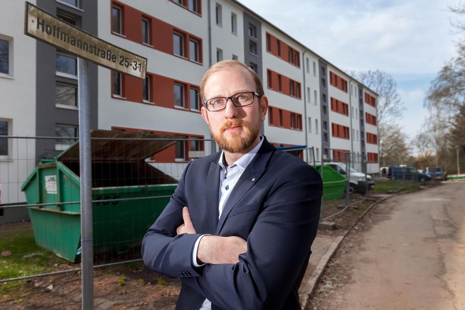 """Christian Walther (34), Chemnitzer Siedlungsgemeinschaft: """"Nachfrage nach Single-Wohnungen nimmt zu."""""""