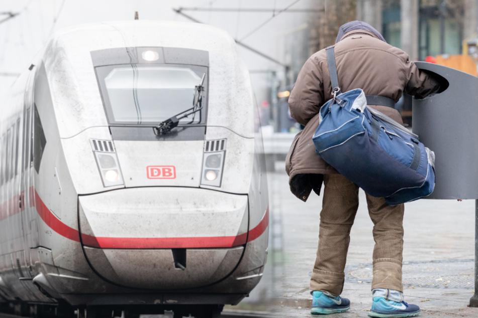 Auf ICE-Strecke: Mann will Flaschen sammeln, da kommt ein Zug!