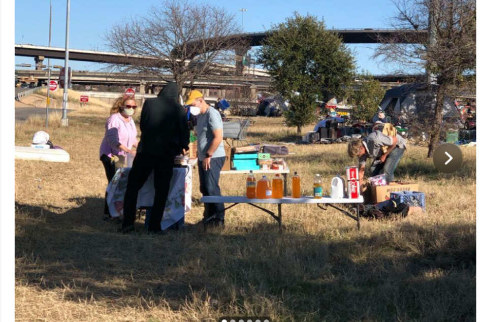 The donation drive was started to help those sleeping under the I-35.