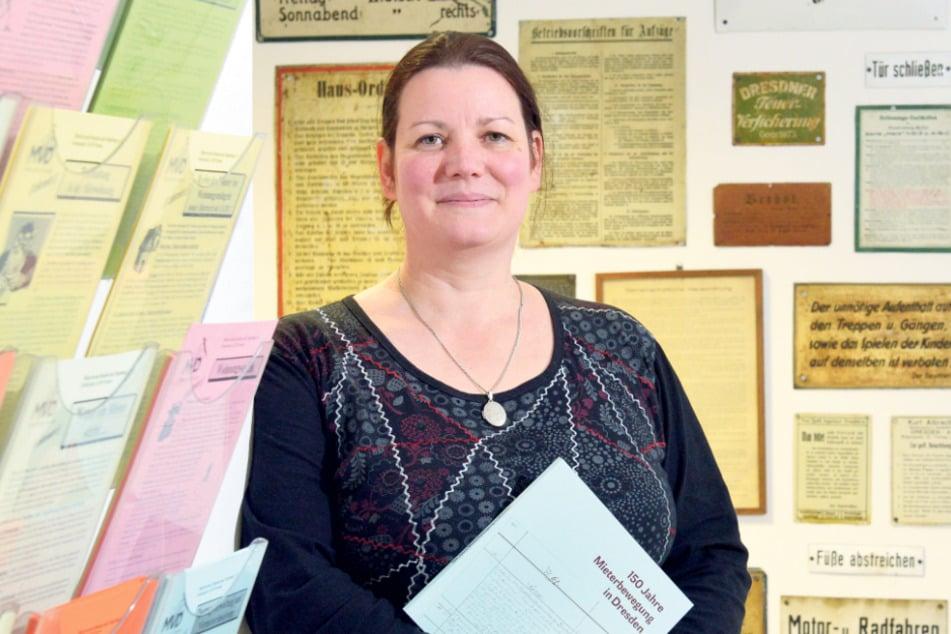 """Katrin Kroupova (46) vom """"Mieterverein Dresden und Umgebung"""". Die Corona-Regeln für Ableser sind mit dem Gesundheitsamt besprochen."""