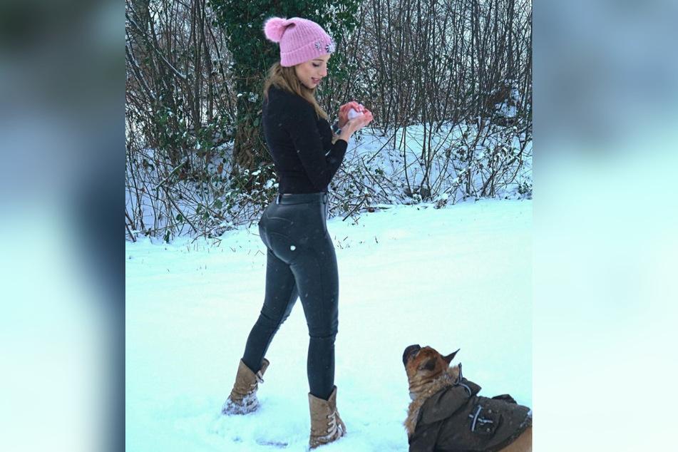 Hanna Secret (24) sieht im Schnee noch eine andere Bedeutung.