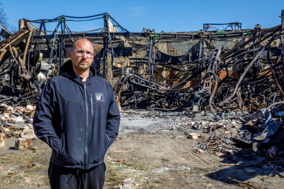 """Dresden: Unternehmer klagt nach Großbrand: """"Das Feuer hat uns alles genommen"""""""