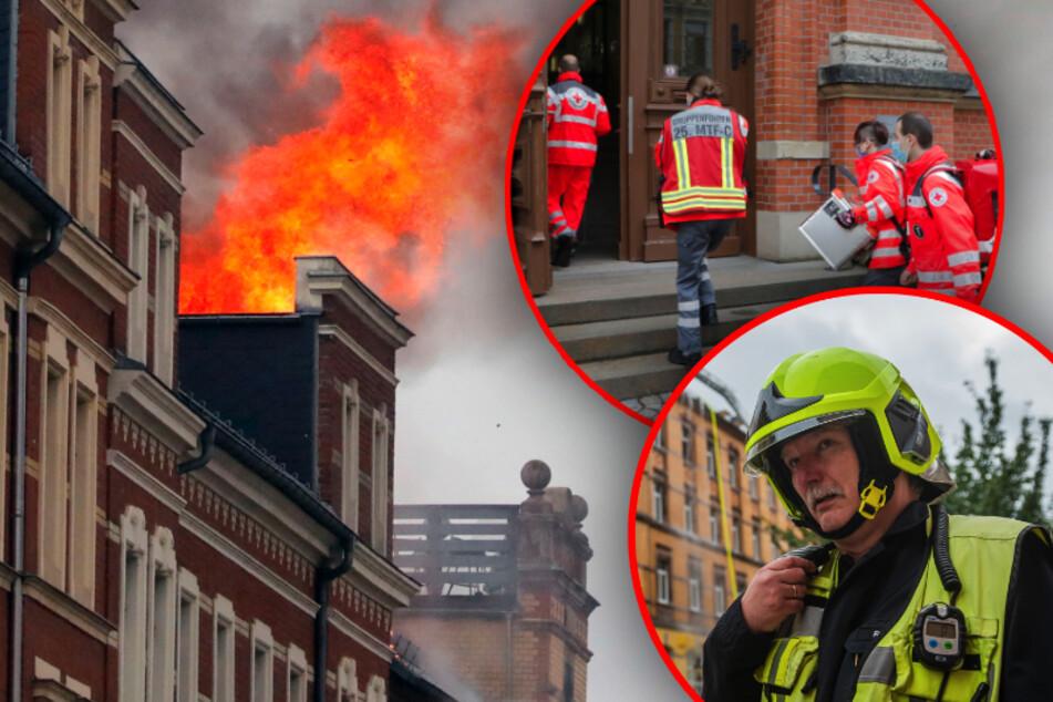 Chemnitz: Anwohnerin berichtet: So dramatisch war der Dachstuhlbrand in Chemnitz
