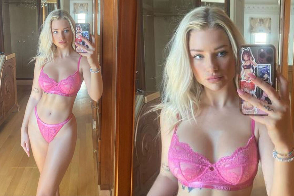 Lottie Moss (23) auf neuen Selfies.