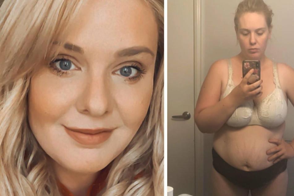 Die Bloggerin Jessica zeigt sich normalerweise stets perfekt gestylt. Das Bild rechts ist eine Reaktion auf die Äußerung ihrer Tochter.